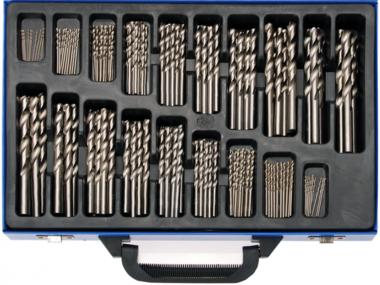 Juego de brocas espirales HSS 1 - 10 mm 170 piezas