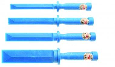 Juego de espatulas plasticas 19 - 22 - 25 - 38 mm de ancho 4 piezas