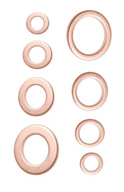 Surtido de arandelas cobre 150 piezas