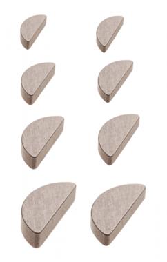 Surtido de chavetas tipo Woodruff 80 piezas