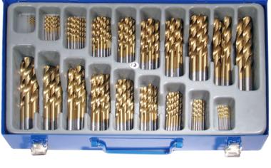 Juego 170 piezas de brocas HSS con cobertura de titanio