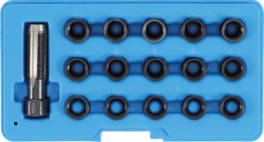 Juego para reparar roscas insertadas de bujias M14x1,25