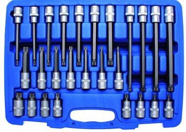 Juego de puntas de vaso entrada (1/2) dentado m ltiple interior 26 piezas