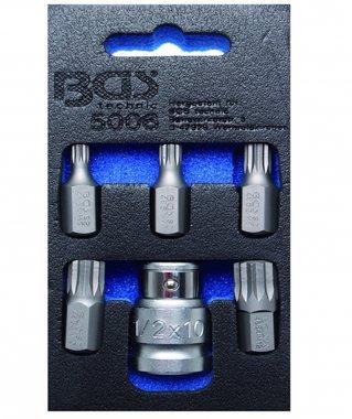 Juego 6 piezas de puntas XZN (spline)/destornilladores