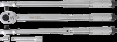 Llave dinamométrica + adaptador + extensión cuadrado exterior 12,5 mm (1/2) 28 - 210 Nm