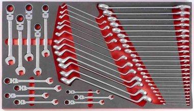 Módulo de espuma de 48 llaves de combinación y llaves