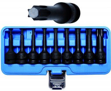 Juego de puntas de vaso de impacto entrada (1/2) perfil Torx 9 piezas
