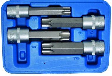 Juego de puntas de vaso entrada (1/2) MAXI Torx 4 piezas