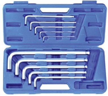 Juego 10 piezas de llaves allen con bola tipo XL 3x130-17x340 mm