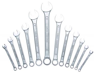 Juego 12 piezas de llaves combinadas segaļn normas DIN 3113 6-22 mm