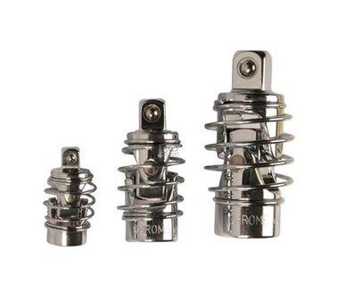 Juego de articulaciones cardánicas | con muelle | 6,3 mm (1/4) / 10 mm (3/8) / 12,5 mm (1/2) | 3 piezas