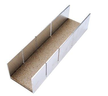 Caja de ingletes de aluminio 245 x 65 x 55 mm