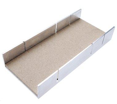 Caja de ingletes de aluminio 245 x 106 x 44 mm