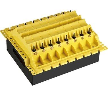Bandeja de almacenamiento para las piezas durante la reparacion de las culatas