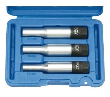 Juego 3 piezas de vasos para calentadores con par de apriete 8-10-12 mm