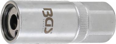 Extractor de espárragos | entrada 12,5 mm (1/2), hexágono exterior 21 mm | 8 mm