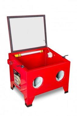 Cabina de arenado mesa de 80 litros.