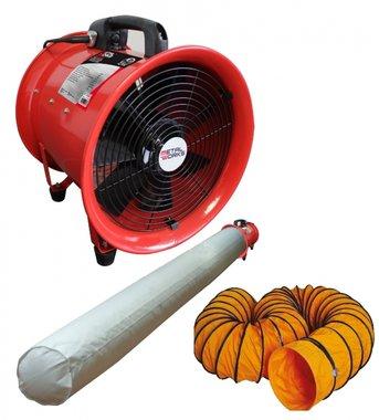 Ventilador de 300 mm - 500w con la manguera y el filtro