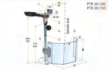 Funda protectora para barrenos PTR 20/300, 3,90kg
