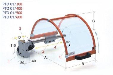 Guardia marco de acero mandril PTO 01/500, 4,40kg