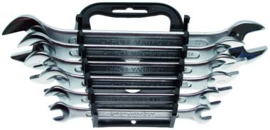 Juego 6 piezas de llaves planas (dos vocas) DIN 3110, 6x7-17x19 mm
