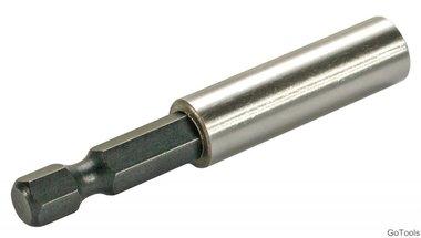 Portapuntas magnético hexágono exterior 6,3 mm (1/4) 60 mm