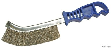 Cepillo de hilo de latonado, 260 mm de largo
