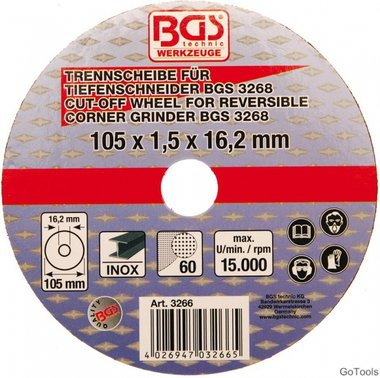 Disco de corte para cortadora BGS 105 x 1,5 x 16,2 mm