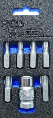 Juego de puntas de destornilladores entrada 10 mm (3/8) perfil en T (para Torx) 7 piezas