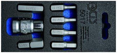 Juego de puntas de destornilladores entrada 10 mm (3/8) hexagono interior 7 piezas
