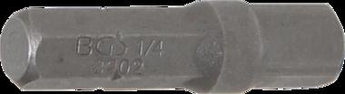 Adaptador de carraca para puntas hexagono exterior 6,3 mm (1/4) - cuadrado exterior 6,3 mm (1/4) 30 mm