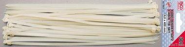 Surtido de bridas para cables blanco 8,0 x 400 mm 30 uds.