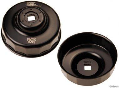 Llave de filtros de aceite 15 caras Ø 78 mm para Ford, Nissan, Toyota