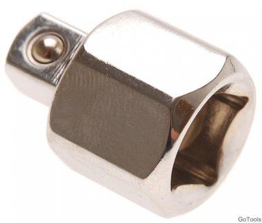Adaptador de llave de vaso cuadrado interior 12,5 (1/2) - cuadrado exterior 10 (3/8)