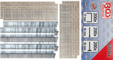 Surtido de grapas, puntas y clavos | 600 piezas