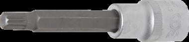 Punta de vaso longitud entrada (1/2) dentado múltiple interior (para XZN) M9