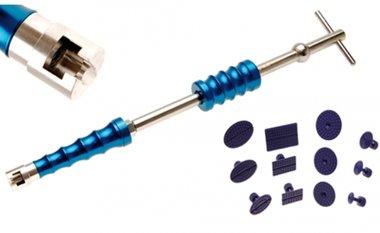 Juego de martillo deslizante para reparacion de abolladuras