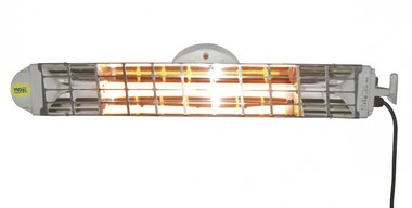 Doble calefactor de infrarrojos con 2 lamparas