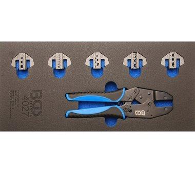 Bandeja de herramientas 1/3: alicates de crimpado con 5 pares 11 piezas