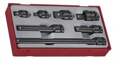 Set de accesorios vaso de impacto 1/2 TC-bandeja 7dlg