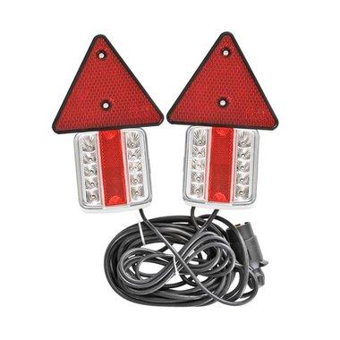 Luces LED de remolque con imanes reflectores de 7,5 + 2,5M de cable