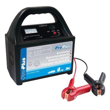 Cargador de bateria de 12V/24V 15Amp.
