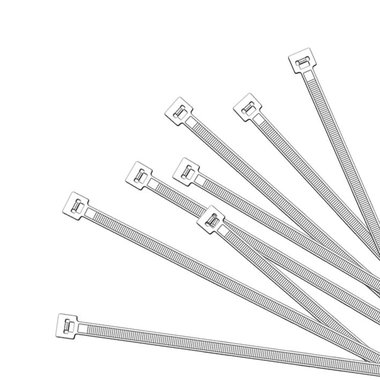 Bridas de 200x4,5mm, 1000 piezas de color blanco