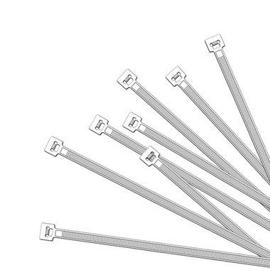 Bridas de 350x4,5mm, 1000 piezas de color blanco