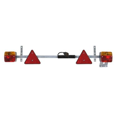 Barra de luces de remolque telescópica de metal de 110-160cm + cable de 7,5M