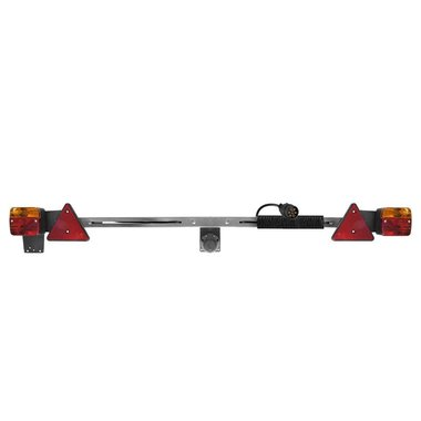 Barra de luces de remolque telescópica de metal de 140-200cm + cable de 12M