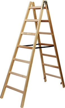 Escalera de madera 2x7 peldanos Altura del marco escalera 1,84m