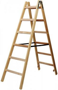 Escalera de madera 2x6 peldanos Altura del marco escalera 1,58m