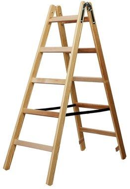 Escalera de madera 2x5 peldanos Altura del marco escalera 1,32m