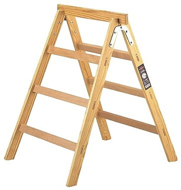 Escalera de tijera de madera + caballete HAB 150